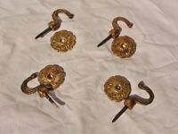 4 Curtain Tie Backs / Tie Hold Back Hooks / Holdbacks / Tiebacks