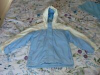 Girls Light Blue Ski Jacket - Age 10-11