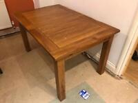 Solid Oak Rustic 6 To 8 People Extendable Dining Table