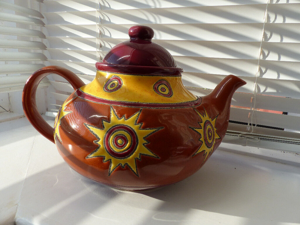 Colourful and unique Artisan Tea Pot from Ecuador