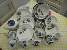 Blue rose china