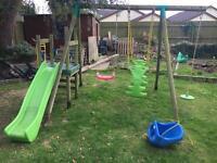 Little tikes Strasbourg swing slide set wooden garden set