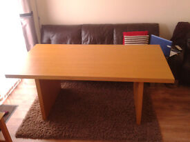 Large Dining Room Table - Maple / Beech Effect - Local Delivery Available