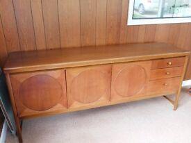 Vintage / Retro Nathan Circles Solid Wood (Teak) Sideboard 1960's / 1970's Era