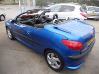 CONVERTIBLE...1.6.CC..PEUGEOT 206,CC..LEATHER INTERIOR ,NICE CAR.....