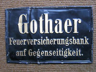 GOTHAER FEUERVERSICHERUNGSBANK Blechschild