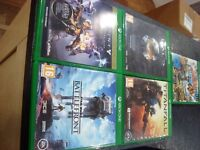X Box One with 5 games