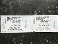 2 seated tickets for The Stone Roses Hampden Park Glasgow 24th June