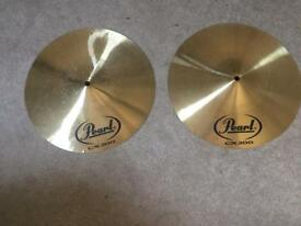 Pearl CX200 14 inch hi hat cymbals used