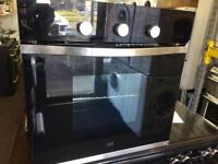 Black Cooke& Lewis 60cm by 60cm integrated electric grill & fan oven good condition with guarantee