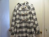 Ladies winter coat from Select with cap, size 14