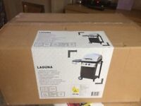 Blooma Laguna 2 Burner Gas Barbecue BBQ Outdoor Garden Grill & Side Table New