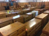 Solid wood / pine wardrobes, chest of draws and much more
