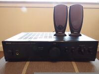 Denon PMA-255UK Amplifier with Dell speakers.