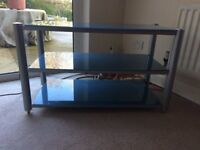 Glass & Chrome look TV stand