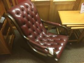 Leather Chesterfield rocking chair * free furniture delivery*