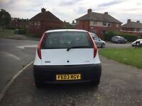 03 plate fiat punto 1.2 mot July very tidy car