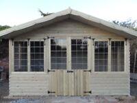12 x 8 summer house, loglap t&g