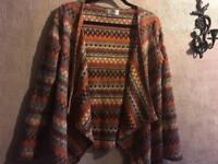 Ladies open cardigan brown size S/8 Ex condition £4