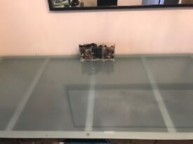 6 seater dining table and chairs (Ikea)