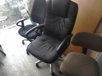 Job lot of 12 office swivel chairs