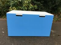 Storage bench White/blue (IKEA)