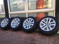 Genuine BMW 320D Alloys and Tyres 5x120 FitMent