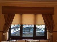 Multiple Cream Blind set and curtains. Great Condition!