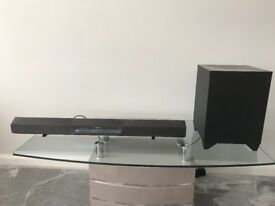 Sony HT-CT260 sounbar and wireless subwoofer.
