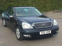 CHEAPEST 2002 LEXUS LS430 FULLY LOADED STARTS AND DRIVES LS 430 FRIDGE MASSAGE HEATED DOUBLE GLAZED