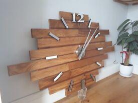 Wooden homemade wall clock