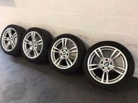 Genuine BMW 3 series 18 inch 400M M SPORT Alloy Wheels & Tyres F30 F31 E90 E91 E46