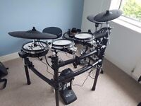 Roland TD-15KV Electric Drum Kit With Pedal Hi Hat Stand and Throne