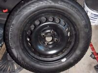 brand new continental tyre and wheel 185/65/15