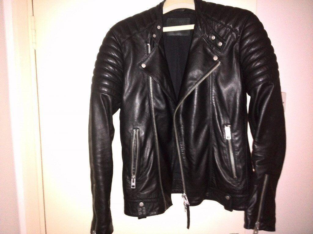 All Saints men's Jasper Leather Jacket Size Xs
