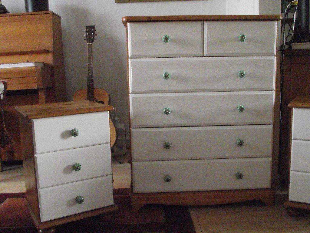 Revamped pine bedroom furniture