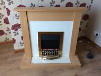 Fireplace with electric fire (living room sofa landlord fire stove bedroom house)