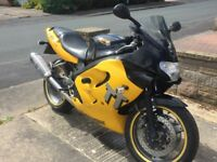 Good bike very reliable,needs mot and battery,good tyres,sports exhaust,fuel injection.