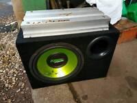 Fusion sub and 1200 w amp