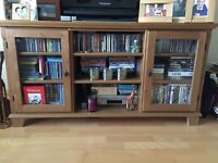 TV unit with cupboards & mid section shelving