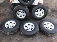 LAND ROVER DEFENDER BOOST ALLOY WHEELSET X5 2015 AS NEW