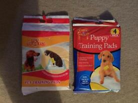 2 packs of puppy training pads