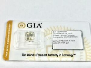 #342 WOW! One loose fancy dark greenish grey diamond 4.76CTW! GIA report and appraisal included
