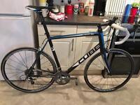 Cube Peloton Pro road bike, 2013, 62 cm, black/blue/white, £298 ONO