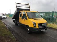 VOLKSWAGEN CRAFTER CR50 DOUBLECAB TIPPER##ONLY 85K MILES##