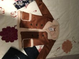 Girls 3-4 suede coat