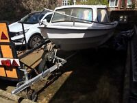 14ft dejon fishing boat with trailer