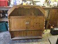 Bespoke pine kitchen wall unit