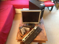 computer desktop monitor mouse keyboard