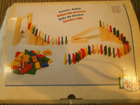 Wooden Domino Rallye, 250 pieces, boxed,used once.